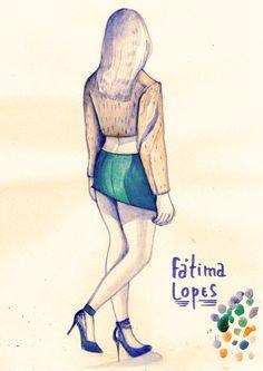 Joana Costa, aluna do Mestrado de Ilustração e Animação do IPCA - desfile Fátima Lopes.