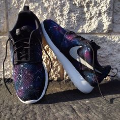 Custom galaxy Nike Roshe Runs. You supply the base shoe on Wanelo