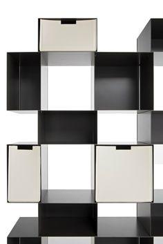 Open freestanding painted metal bookcase ERESIA - Amura