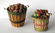 "Joann Swanson - tutorial for baskets made from manila folder also for ""styrofoam"" apples"