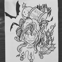 #batman #harleyquinn #dccomics #inprogress #hammer #neotraditional #ink #tattoo #hahaha #gore #horror #drawing #hungary #white #black #gotham