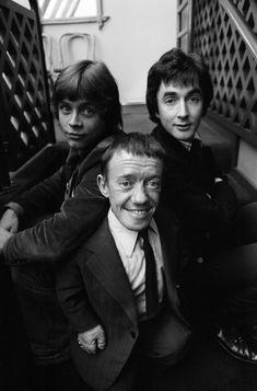 Mark Hamill, Kenny Baker and Anthony Daniels in Birmingham, England, Star Wars 1978