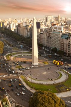 Buenos Aires, Argentina - this is the of July ave one of the widest streets in the world. The Obelisk one of many monuments in this very beautiful city. Places Around The World, The Places Youll Go, Places To See, Around The Worlds, Largest Countries, Countries Of The World, Argentine Buenos Aires, Wonderful Places, Beautiful Places
