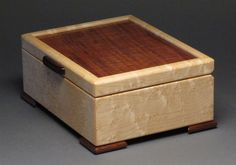 Keepsake Box Curly Koa and Birdseye Maple by watswood on Etsy