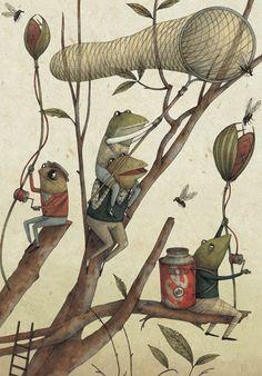 """¤ Marco Soma-""""La reine des grenouilles ne peut pas se mouiller les pieds"""" est paru en 2012 chez chez Rue du Monde"""