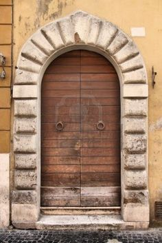 Image detail for -Rome, Italy. Old Door, Italian Architecture Detail. Royalty Free Stock ...