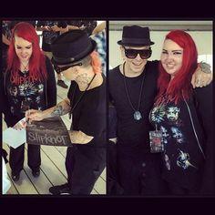 Meeting Sid from Slipknot! #slipknot #sidwilson #summerslaststandtour #toronto