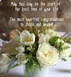 ideas for wedding day wishes quotes messages Happy Wedding Wishes, Wedding Wishes Messages, Wedding Anniversary Wishes, Wedding Greetings, Happy Wedding Day, Anniversary Quotes, Happy Anniversary, Anniversary Cards, Wedding Congratulations Quotes