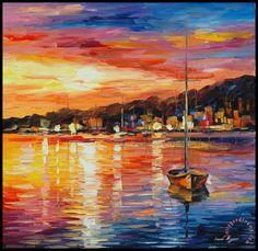 sunrise painting art leonid afremov