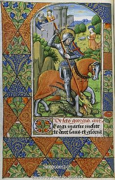 Suffrage to St. George. Rouen, France, late 15th century.