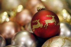 Reindeer Christmas bauble