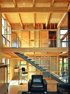 Contemporary Staircase Design, Pictures, Remodel, Decor and Ideas - page 19