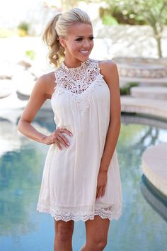 """***Use code """"REPLAUREN"""" for 10% off + Free Shipping!!!!*** Be Confident Dress - Ivory"""