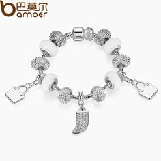 BAMOER Strand Bracelet New Arrival White Charms Beads Bracelet for Women Girl with Handbag Pendant Bracelet Jewelry PA1473 $7.65   => Save up to 60% and Free Shipping => Order Now! #fashion #woman #shop #diy  http://www.rodjewelry.com/product/bamoer-strand-bracelet-new-arrival-white-charms-beads-bracelet-for-women-girl-with-handbag-pendant-bracelet-jewelry-pa1473/