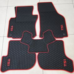 56.45$  Watch here - http://ai00k.worlditems.win/all/product.php?id=32563469770 - rubber waterproof latex car floor mats for Volkswagen Golf 6GTI R20 Sagitar Octavia Scirocco Cellular models / R logo / TSI logo