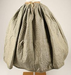 Petticoat Date:1850s Culture:American Medium:silk, cotton | American | The Met