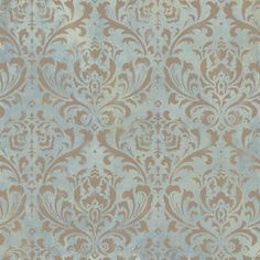 Ordered this to make fuax wall paper in my closet and hallway... Damask Stencil Anna - Reusable Large Wall Stencils - DIY decor. $49.95, via Etsy.