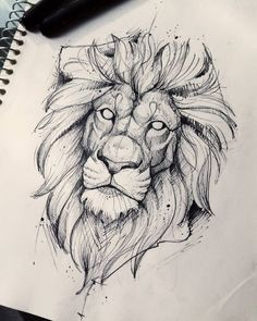 Lion Drawing Sketch Tattoo - Again a really beatiful lion tattoo sketch lion sketch tattoo by quidames on deviantart. How to draw cartoons instructor shows you how to draw a tatto. Tattoo Sketches, Drawing Sketches, Tattoo Drawings, Art Drawings, Drawing Tips, Drawing Ideas, Animal Sketches, Animal Drawings, Pencil Drawings