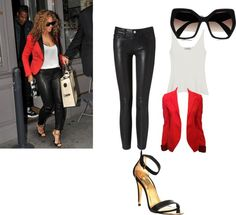 Get The Look:Beyonce by shenettemoneque82 on Polyvore featuring Mulberry, Balenciaga, Frame Denim, Ted Baker, Prada and Jada
