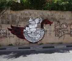 Street Art Wall Murals : Volume 9 // Urban artists on Mr Pilgrim Best Street Art, 3d Street Art, Street Art Graffiti, Street Artists, Installation Art, Art Installations, Palestine Art, Wall Murals, Wall Art