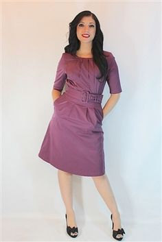 Mikarose Polished Cotton Dress--great for teaching, working, living! www.voovoodress.com $75.00 #dress #pinup