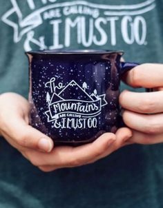 """About/Inspo: This design is perfect for the adventurous spirit, the ones who love the mountains or anyone who loves the outdoors. The print is slight distressed to give a """"vintage"""" look. Specs: This """""""