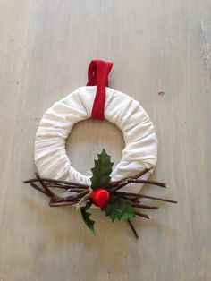 ghirlanda natalizia di stoffa