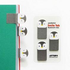 Marcadores de páginas - Pingüino