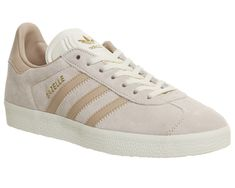 db3c52d82aa8 Adidas Gazelle Trainers Vapour Pink Linen Cream White - Hers Exclusives