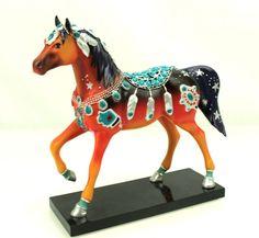 Trail of Painted Ponies NATIVE JEWEL PONY 12243 Navajo Western Horse Figurine 3E #weboys10