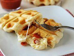 Infaltables en todas las películas norteamericanas, los waffles siempre son una rica alternativa para variar un poco nuestros desayunos. Si no eres muy faná