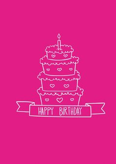Pink Celebration | Happy Birthday | Echte Postkarten online versenden…