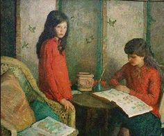 The Stamp Collectors ~ Rae Sloan Bredin ~ (American: 1880-1933)