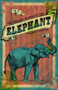"My Favorite Elephant    by Bili Kribbs  Art Print / MINI (7"" x 10"")    $15.00"