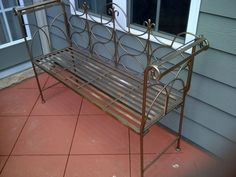 Wrought Iron Bench - $100