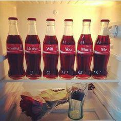 "When your bae loves""coca cola"" proposal idea via  @aisleperfect #sugarweddings"