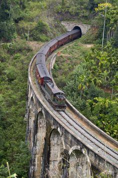 Nine Arch Bridge in Ella, Sri Lanka #lka #SriLanka #VisitSriLanka                                                                                                                                                      More