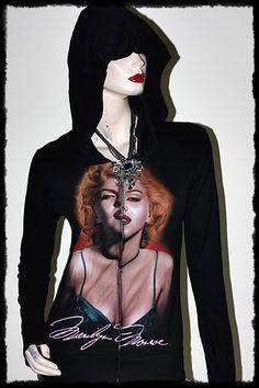Marilyn Monroe Metal  Rock DIY Slim Fit Hoodie Top