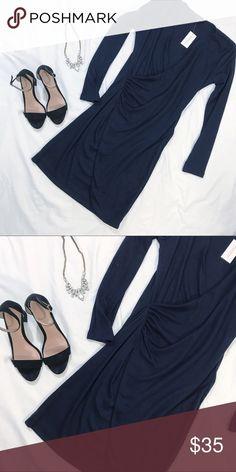 Banana Republic dress Navy blue. 35' L x 13' W.  3/4 sleeves Banana Republic Dresses