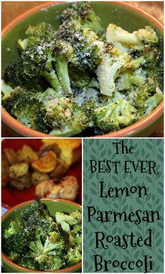 The BEST EVER Lemon Parmesan Roasted Broccoli