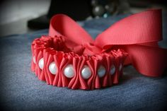 another version of ribbon and pearl bracelet