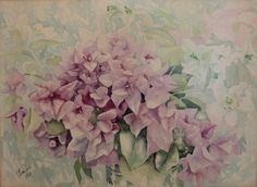 Another in the water colour Bouganvillea series. 1991.