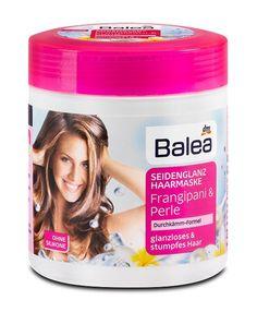 Маска Balea с экстрактом жасмина и жемчуга восстанавливает сухие и потускневшие волосы.