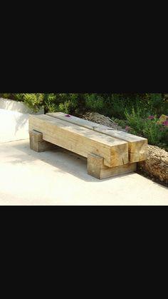 Wooden Garden Furniture, Outside Seating, Deco Nature, Fire Pit Area, Garden Seating, Outdoor Living, Outdoor Decor, Yard Design, Garden Inspiration
