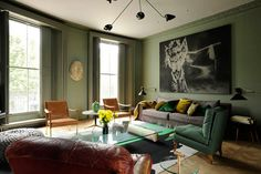 Great style (and beautiful colours) in this London townhouse designed by Studio Toogood.