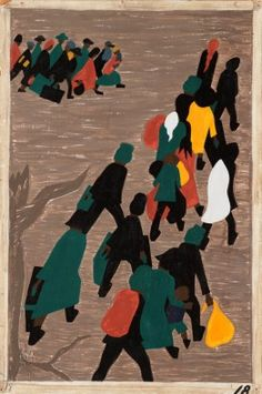 The migration gaines in momentum 1941.  (45.7x30.5cm)