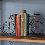 Woodland Imports Bicycle Bookend & Reviews   Wayfair