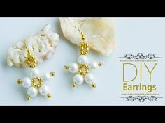 DIY easy and quick pearl earrings | How to make earrings | pearl jewelry making |Beads art - YouTube