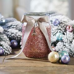 DIY Glittered Jar Candle In Store Holiday Pinterest Party November 15, 2014 1pm - 4pm