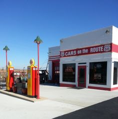 Cars on the Route is more than just a cafe/souvenir shop, it has been refurbished to illustrate the type of station that would have one time stood along Route 66 during its heyday!